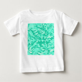 Foliage Abstract Pop Art Aqua Baby T-Shirt