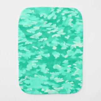 Foliage Abstract Pop Art Aqua Burp Cloth
