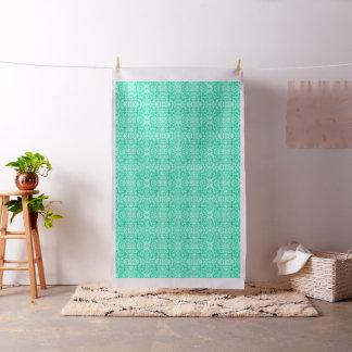 Foliage Abstract Pop Art Aqua Fabric