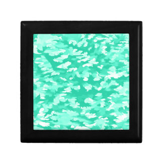 Foliage Abstract Pop Art Aqua Gift Box