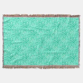 Foliage Abstract Pop Art Aqua Throw Blanket