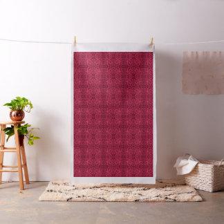 Foliage Abstract Pop Art Blush Red Fabric