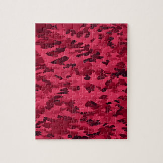 Foliage Abstract Pop Art Blush Red Jigsaw Puzzle