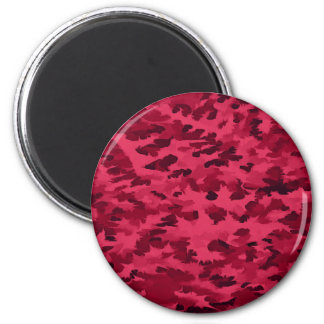 Foliage Abstract Pop Art Blush Red Magnet