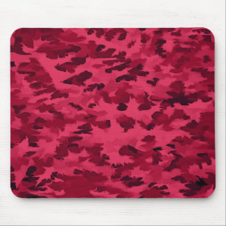 Foliage Abstract Pop Art Blush Red Mouse Pad