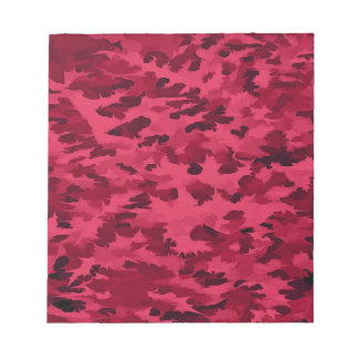 Foliage Abstract Pop Art Blush Red Notepad