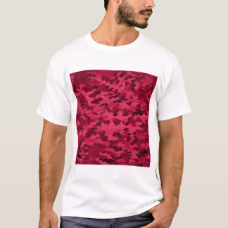 Foliage Abstract Pop Art Blush Red T-Shirt