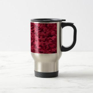 Foliage Abstract Pop Art Blush Red Travel Mug