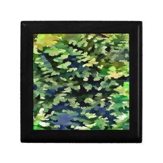 Foliage Abstract Pop Art In Green and Blue Gift Box