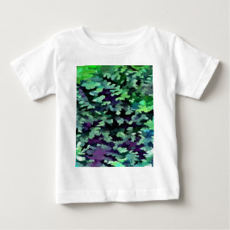 Foliage Abstract Pop Art In Jade Green and Purple. Baby T-Shirt