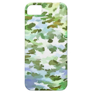 Foliage Abstract Pop Art In White Green and Powder Case For The iPhone 5