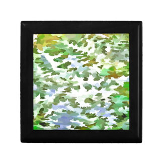 Foliage Abstract Pop Art In White Green and Powder Gift Box