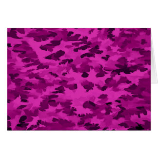 Foliage Abstract  Pop Art Violet Card