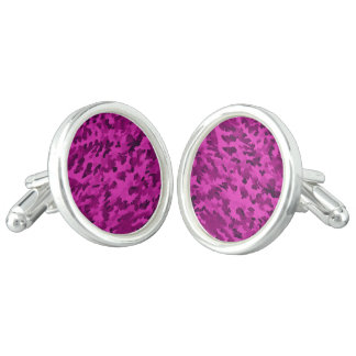 Foliage Abstract  Pop Art Violet Cufflinks