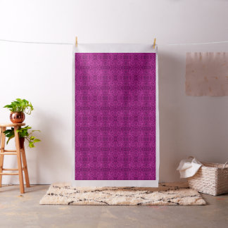 Foliage Abstract  Pop Art Violet Fabric
