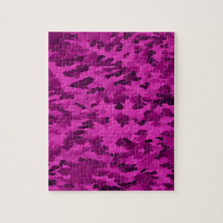 Foliage Abstract  Pop Art Violet Jigsaw Puzzle