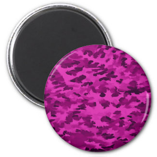 Foliage Abstract  Pop Art Violet Magnet