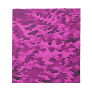 Foliage Abstract  Pop Art Violet Notepad