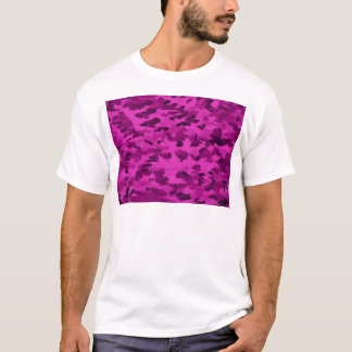 Foliage Abstract  Pop Art Violet T-Shirt