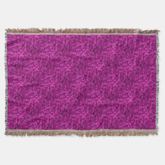 Foliage Abstract  Pop Art Violet Throw Blanket