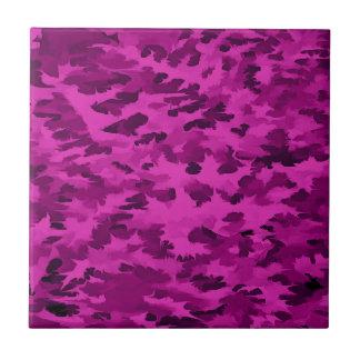 Foliage Abstract  Pop Art Violet Tile