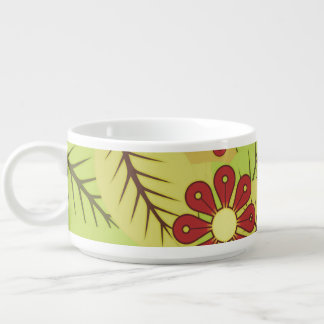 Foliage and flowers bowl