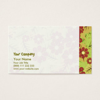 Foliage and flowers business card