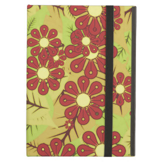 Foliage and flowers cover for iPad air