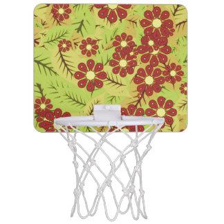 Foliage and flowers mini basketball hoop
