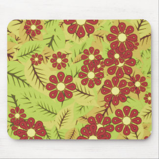 Foliage and flowers mouse pad