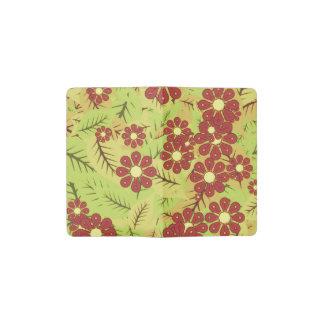 Foliage and flowers pocket moleskine notebook