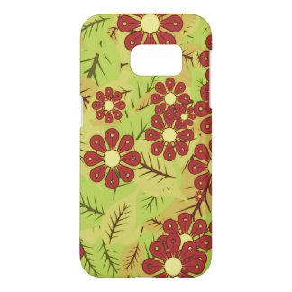 Foliage and flowers samsung galaxy s7 case
