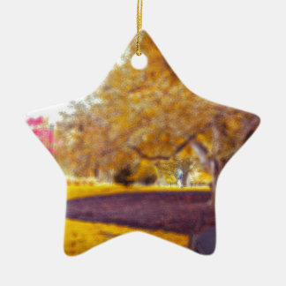 Foliage Ceramic Star Ornament