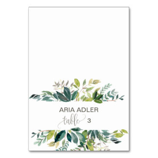 Foliage Escort Place Cards Table Cards