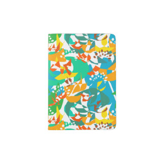 Foliage Leaves Fall Autumn Colorful Abstract Cool Passport Holder