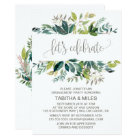 Foliage Let's Celebrate Engagement Party Card