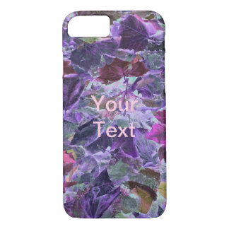 Foliage Pattern Purple and Pink Leaves Case-Mate iPhone Case