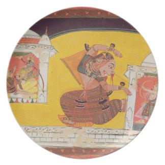 Folio 27 Laksmama cuts the nose of Surpanakha, fro Plate
