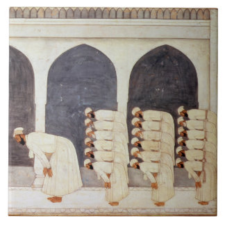 Folio.38a A Mogul prince in a mosque leading Frida Ceramic Tiles