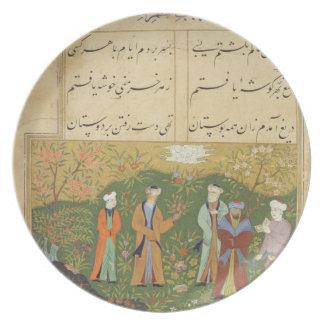 Folio 39, A garden scene, from the 'Bustan of Sa'd Plate