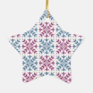 Folk Art 1 Ceramic Star Ornament