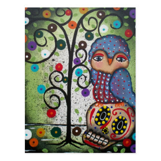FOLK ART All In The Imagination BY LORI postcard