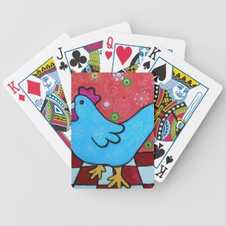 FOLK ART AMERICANA ROOSTER BICYCLE PLAYING CARDS