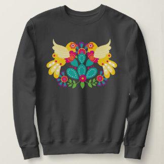 Folk Art Birds Sweat Shirt