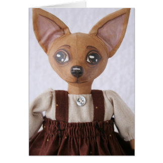 Folk Art Chihuahua Doll Card
