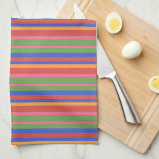 Folk Art Collection Brightly Striped Kitchen Towel