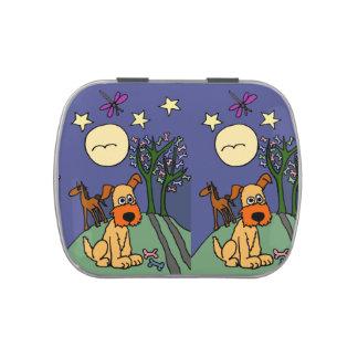 Folk Art Dog and Horse Candy Tin