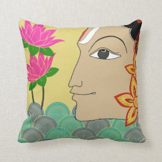 Folk art dual-side Cushion