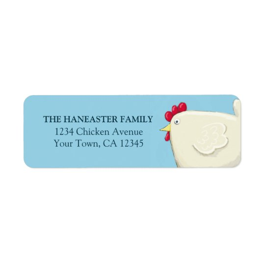Folk Art Easter Chicken Return Address Label