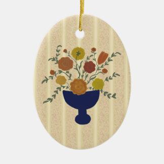 Folk Art Flower Arrangement Ornament